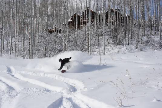 Snowboader Justin McCarty Beaver Creek Colorado Photo Mike Hardaker