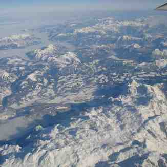 The Alpes from the sky..., Tignes