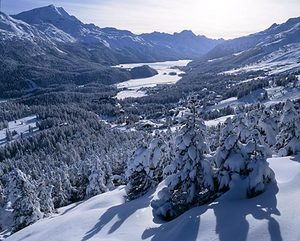 St. Moritz, A view of the lake...(I think), St Moritz photo
