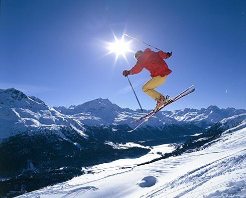 St Moritz snow
