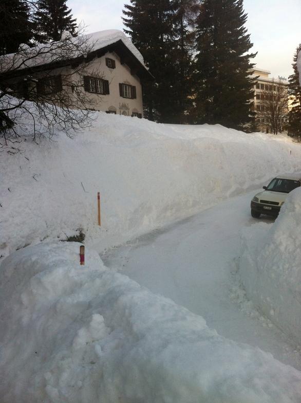 The Hohe Promenade in Davos Dorf at 1680 meters