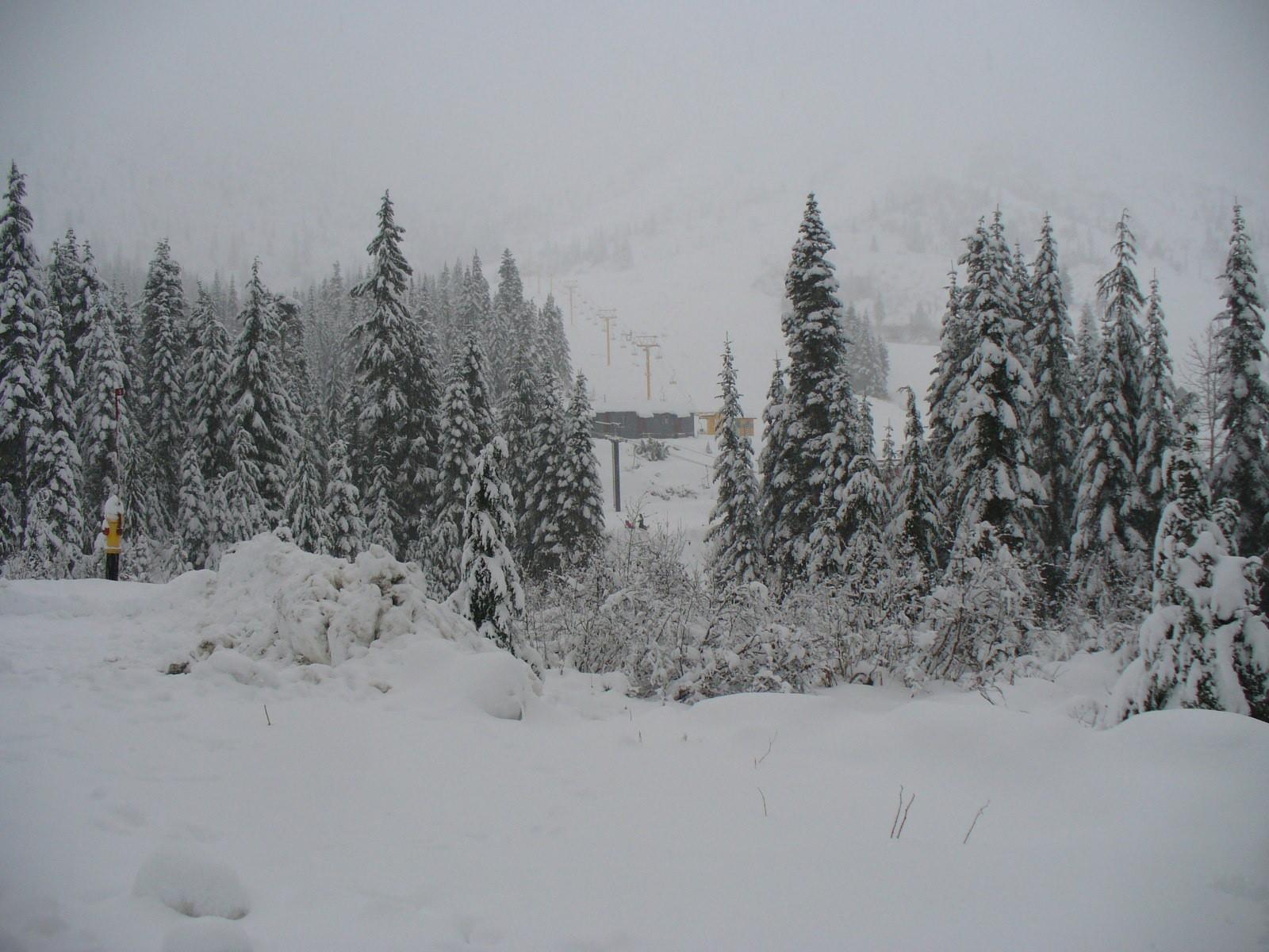 New Snow, Sasquatch Mountain Resort