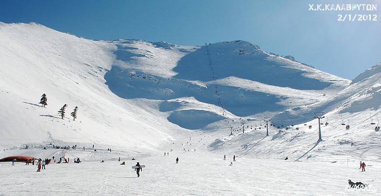 From Vathia Lakka looking @ Styga, Kalavryta Ski Resort