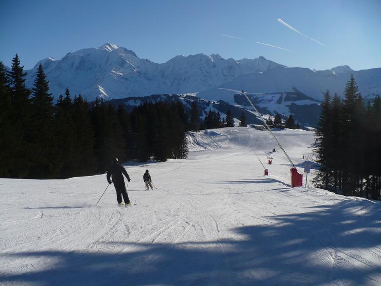 Quiet slopes in Combloux
