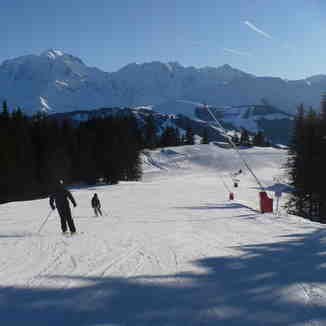 Quiet slopes in Combloux