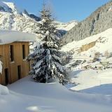 Actual snow next to Basecamp Andermatt at Nätschen