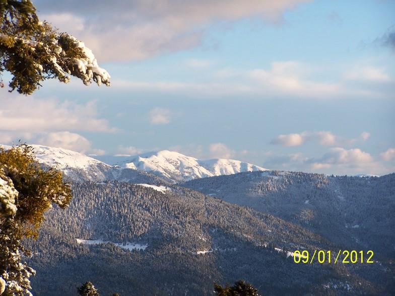 View from Timfristos mountain, Karpenisi