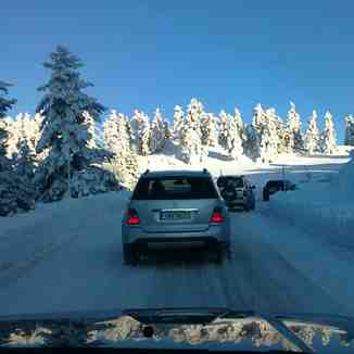 after two days snowfall  PARNASSOS mt, Mt Parnassos-Kelaria