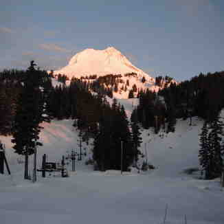 Sunset on Hood!, Mt Hood Meadows