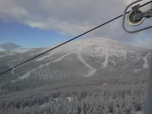 Shot of big hill, Mt Baldy Ski Area photo
