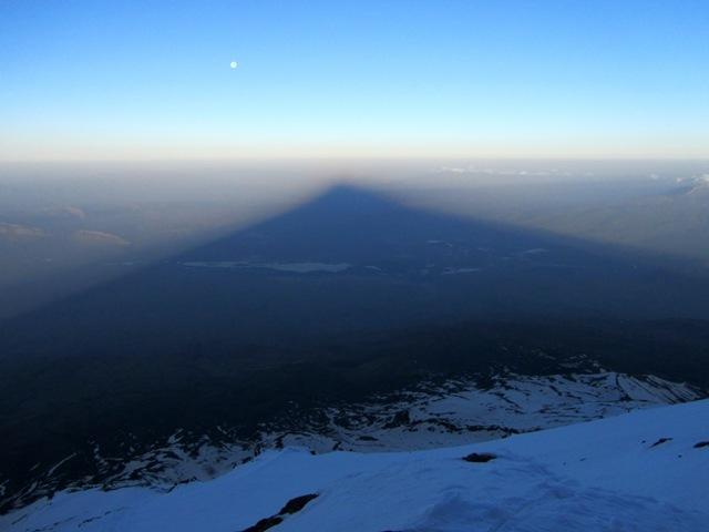 Full Moon Setting in Mt. Ararat Shadow, Ağrı Dağı or Mount Ararat