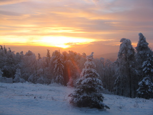 Sunset from Jaworzhyna, Jaworzyna Krynicka photo
