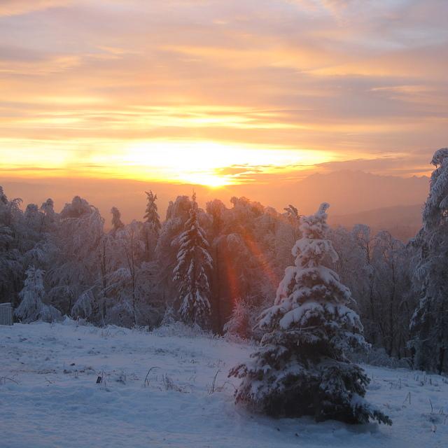 Sunset from Jaworzhyna, Jaworzyna Krynicka