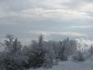 Fog, clouds and sun, Jaworzyna Krynicka photo