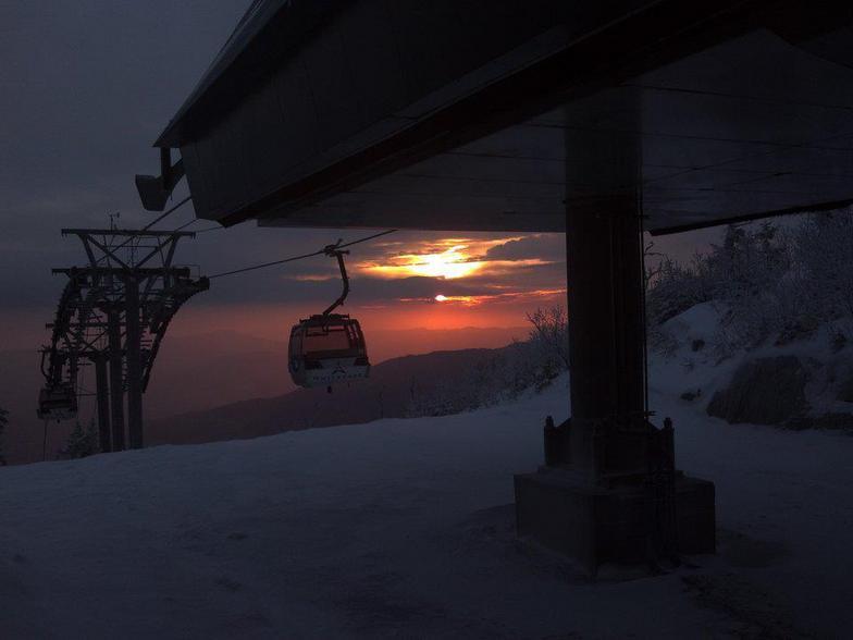 Gondola pink morning, Whiteface Mountain (Lake Placid)