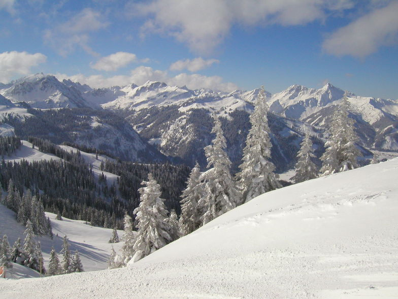 Graen / Tannheimertal with minus 21 degrees C Feb 2005, Füssener-Jöchle-Grän