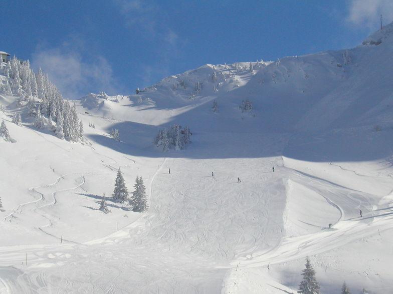 Graen / Tannheimertal with minus 21 degrees C, Füssener-Jöchle-Grän