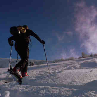 Early Ski Touring on Mt Chery, Les Gets