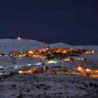 Faraya Mzaar by night, Mzaar Ski Resort
