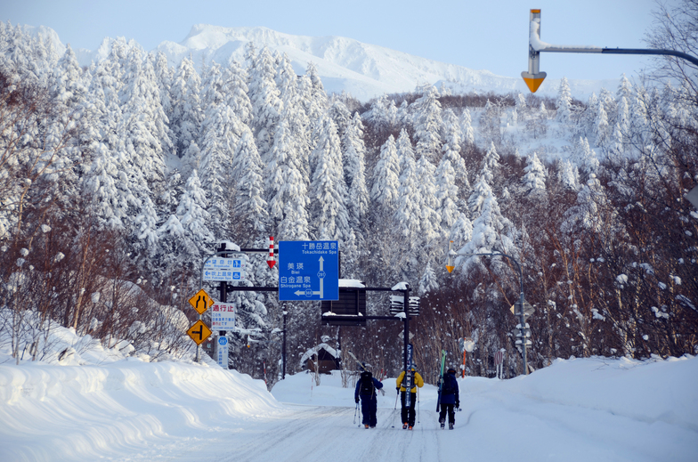 Road to Tokachidake Onsen