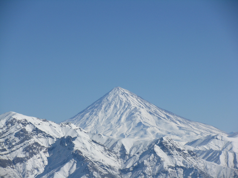 damavand from kolakchal peak, Tochal