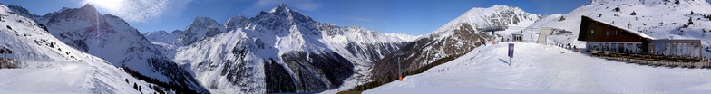 360 panorama view from Kanzel 2350 m to Ortler, Sulden