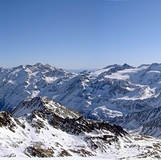 360 panorama view from SCHÖNTAUFSPITZE 3325m, Sulden