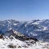 360 panorama view from SCHÖNTAUFSPITZE 3325m, Sulden