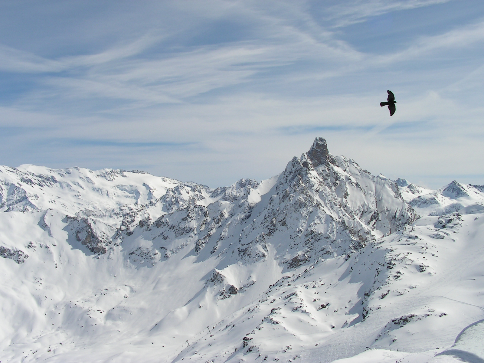 View from Saulire, Courchevel