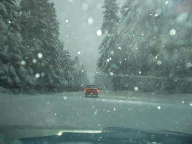 Driving to the Hood, Mt Hood Meadows