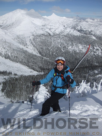 Climbing Wildhorse Peak, Ymir Backcountry Ski Lodge