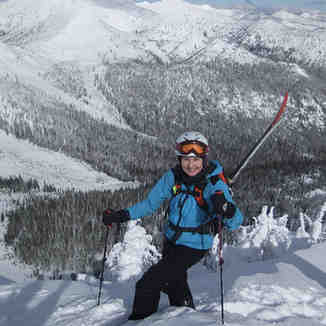 Climbing Wildhorse Peak, Ymir Backcountry Ski Lodge