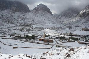 St Chatherine Sinai Egypt Snow 20-1-2012, Jabal Katherina photo