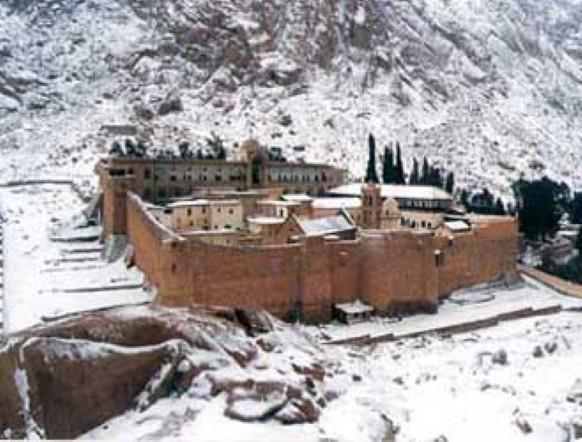 St Chatherine Sinai Egypt Snow 20-1-2012 Monastory, Jabal Katherina