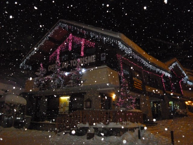 Tourist Office at night, Champagny