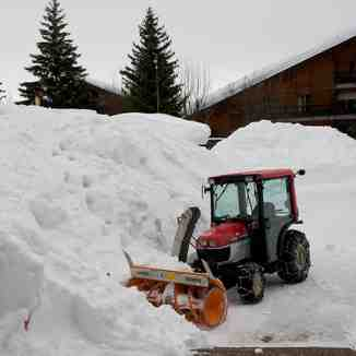 Snow clearing in Anzère