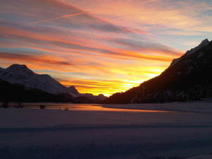 Engadine sunset, Corvatsch-Furtschellas photo
