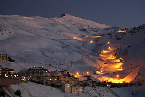 Ski nocturno, Sierra Nevada