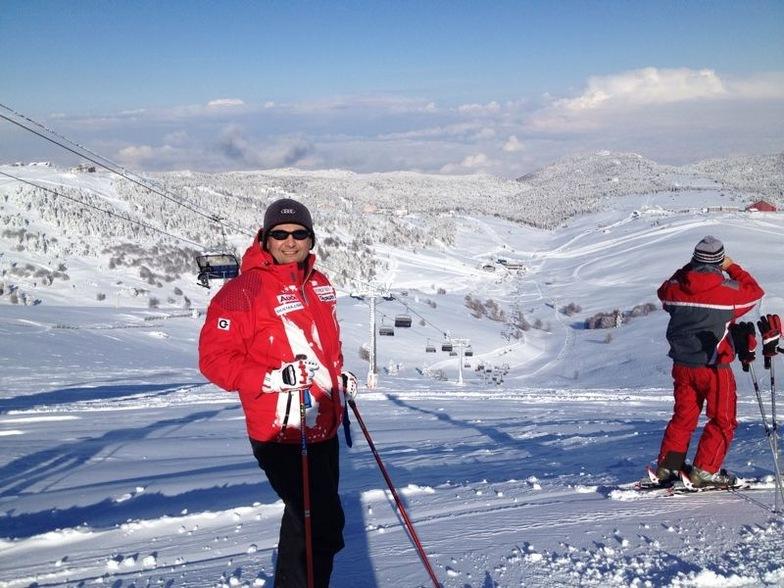 Gurhan Kayahan at the top of Kusaklıkaya, Uludağ
