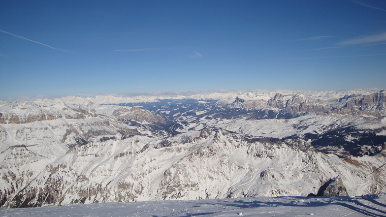 View from Marmolada, Arabba