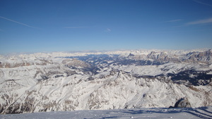 View from Marmolada, Arabba photo