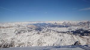 View from Marmolada, Arabba photo