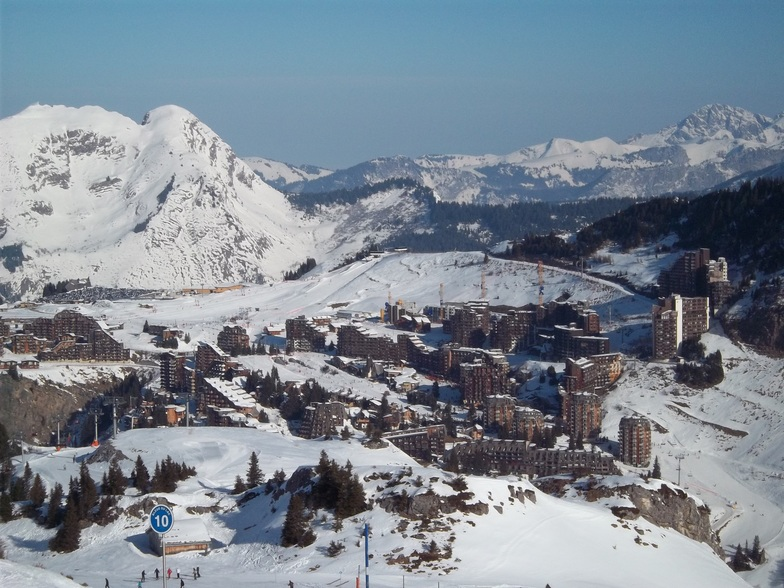 village view from the slopes, Avoriaz