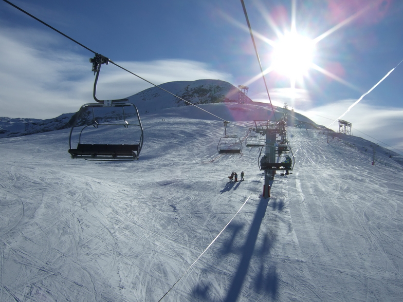 in the morning, Les Deux Alpes