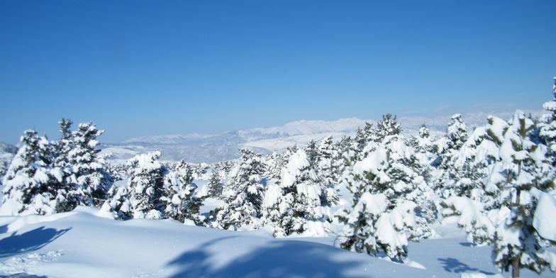 Panorama depuis les pistes de Ski Nordique, Gréolières Les Neiges