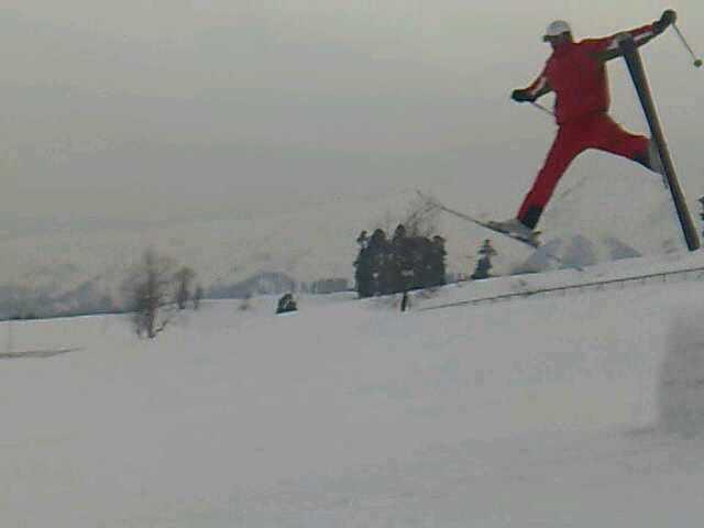 strich jump, Gulmarg