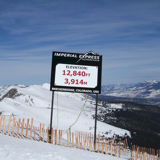 Top of Peak 8 Breckenridge