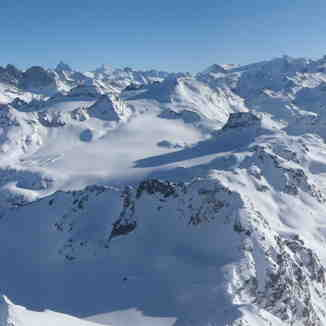 Swiss Alps...from the top of Mt. Fort (3.330m) !!, Verbier