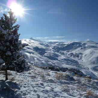 España: blanco y azul de Sierra Nevada