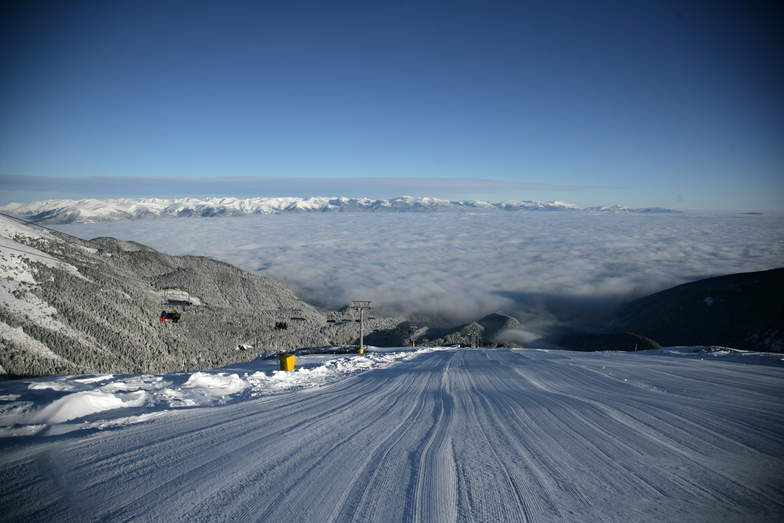 above the clouds, Bansko